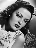 black and white portrait of linda darnell