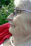 old seniorin woman