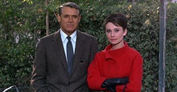 Cary Grant and Audrey Hepburn as movie stars