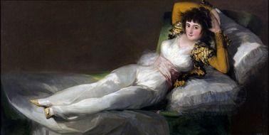the clothed maja, painting by francisco de goya