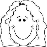Female is smiling clipart