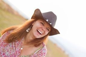 smiling countrygirl