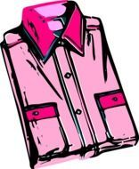 graphic image of men's pink shirt
