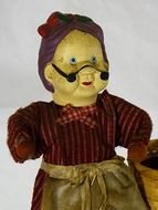vintage puppet of an old woman