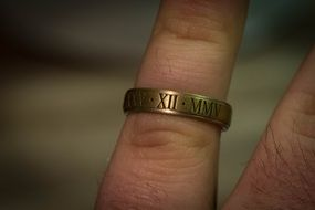 ring on finger date roman numerals illustrations