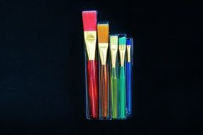 Colorful brush set cosmetics