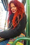 red-haired woman in stockholm