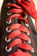 shoes with red laces