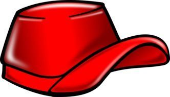 red cap as a graphic image