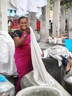 dhobi india woman