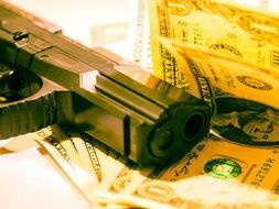 money pistol dollar robbery