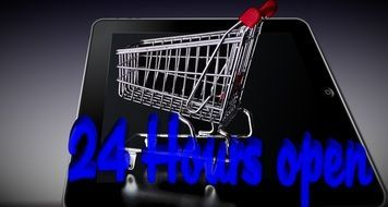 shopping cart tablet purchasing