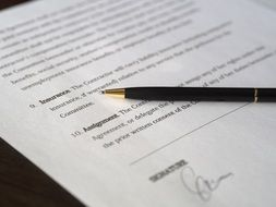 business signature contract agreement