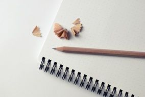 notepad pencil shavings business