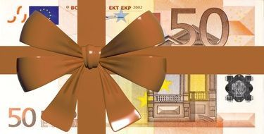 euro banknote gift
