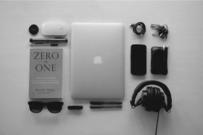 black and white essential gadgets
