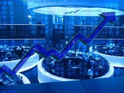 stock exchange arrrow drawing