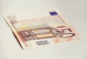 money banknote cash euro fifty