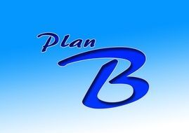 Plan B on a light blue background