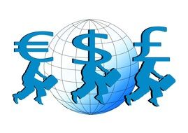 Clipart of the euro dollar and pound