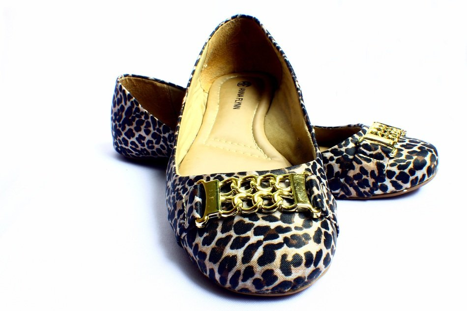 women's shoes with a print of animals