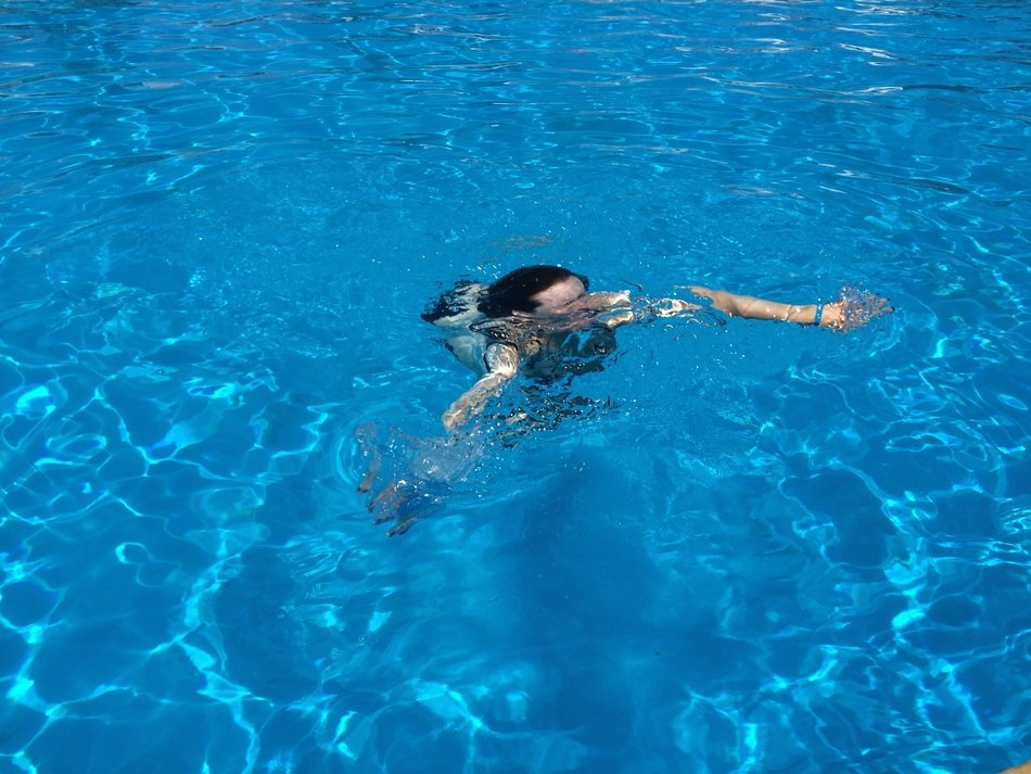 in swimming pool