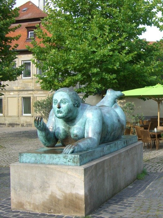 bronze sculpture of a naked woman in bamberg