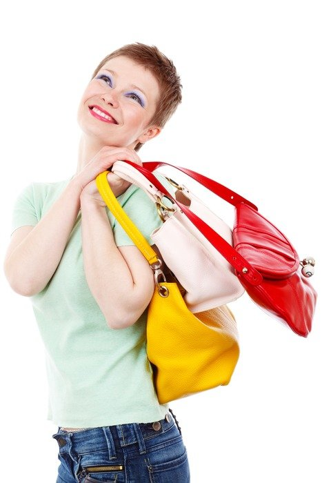 adult woman happy to shoping