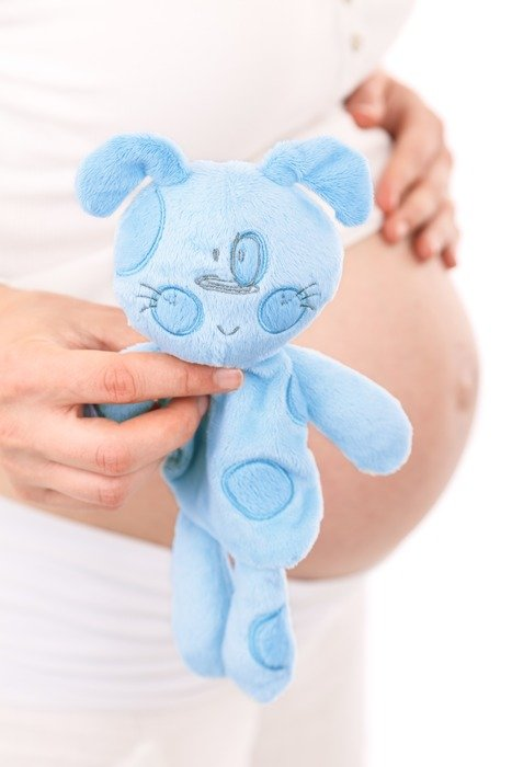 awaiting baby belly blue toy