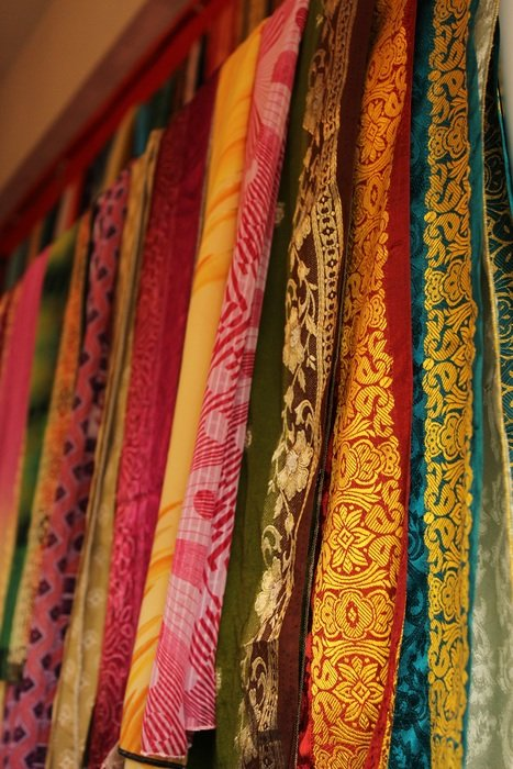 indian colorful fabrics
