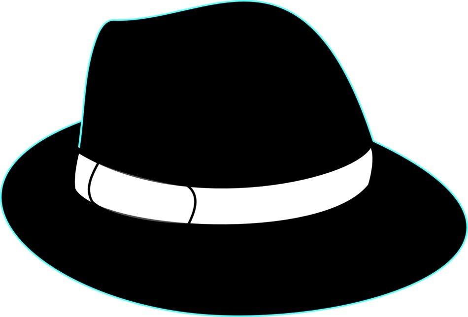 graphic image of a black hat