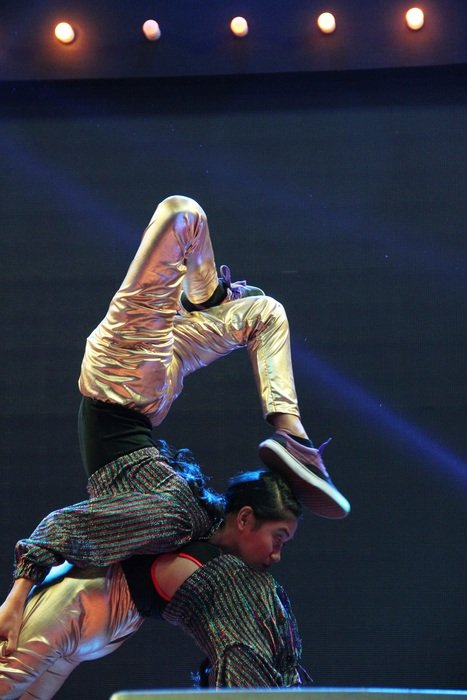 acrobatic dancers in the theater