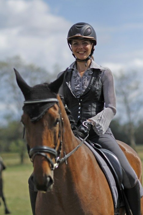 horsewoman with a smile