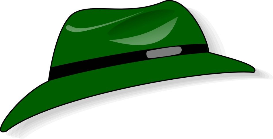 green hat as a stylish accessory