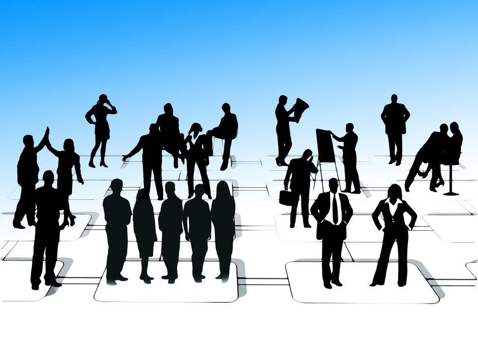 businessmen silhouettes leadership