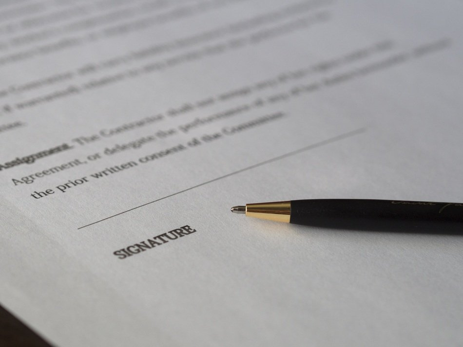 business signature contract
