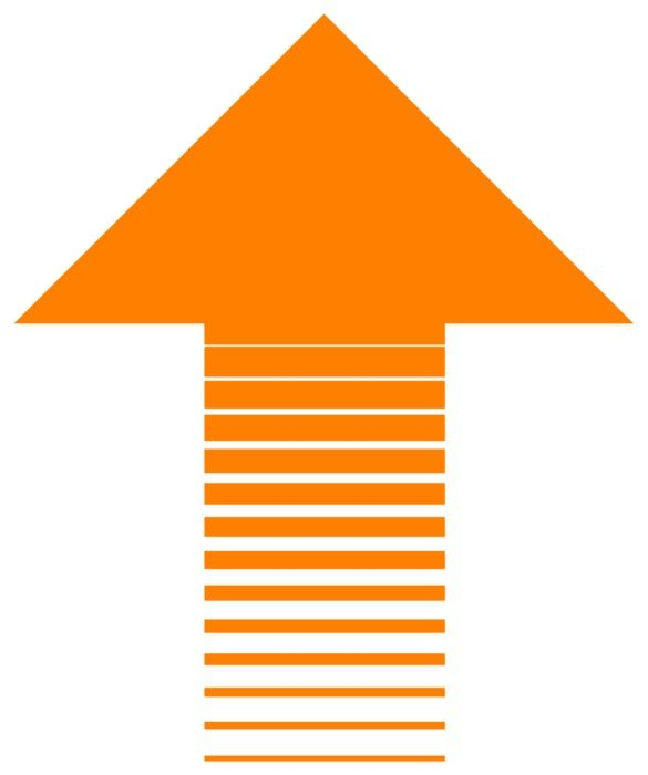 arrow up business orange success