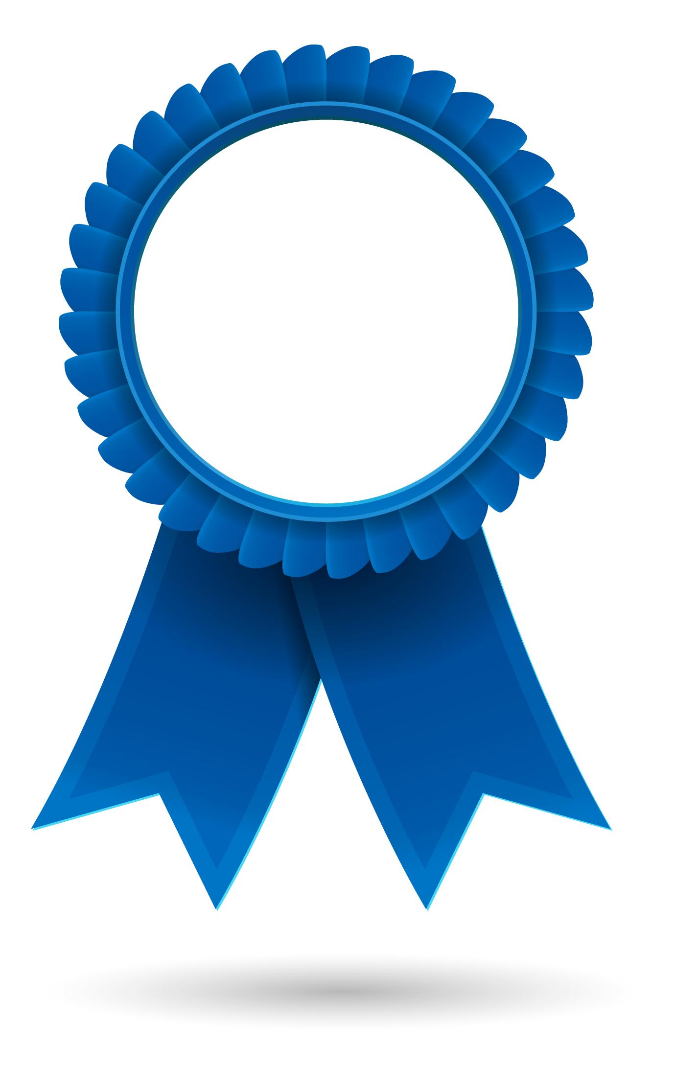 Blue award ribbon clipart free image