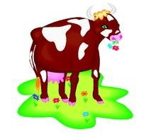 Cartoon colorful cow clipart