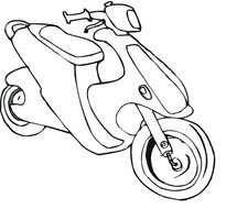 Scooter Coloring Pages drawing