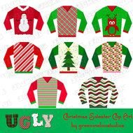 Clip art of Ugly Sweaters