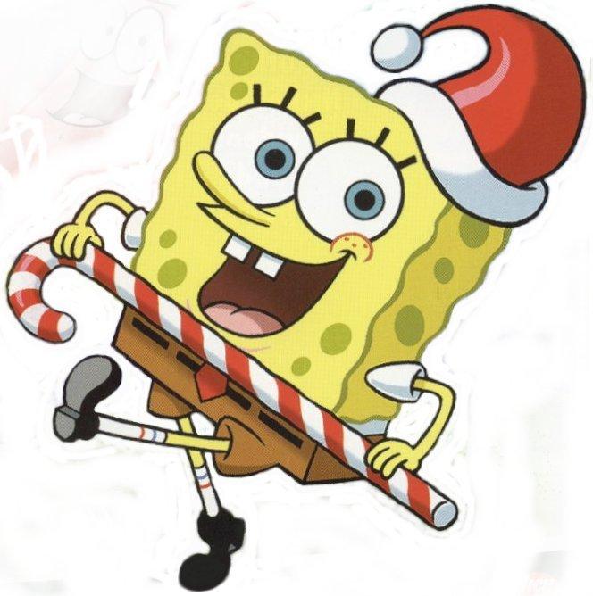 Spongebob Christmas.Spongebob Christmas Clip Art Free Image