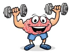 Doing brain exercises clipart