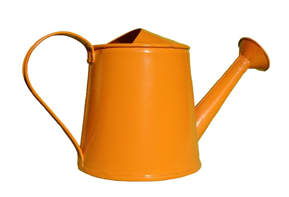 Orange watering can clipart