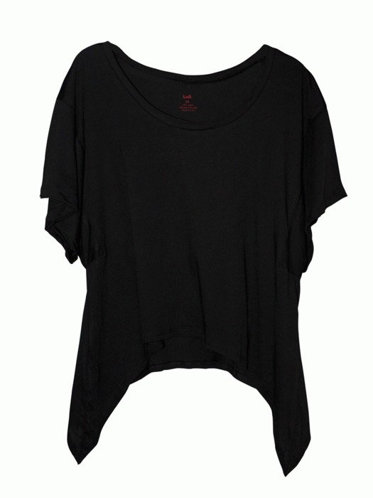 Female black t-shirt clipart