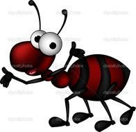 Clipart of the dark Red Ant