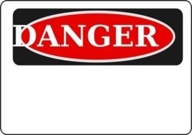 danger red sign drawing