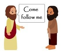 clipart of the Jesus is saying Come and Follow Me