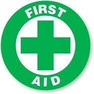First Aid green Sign drawing