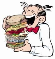 Eating Sandwich Clip Art drawing
